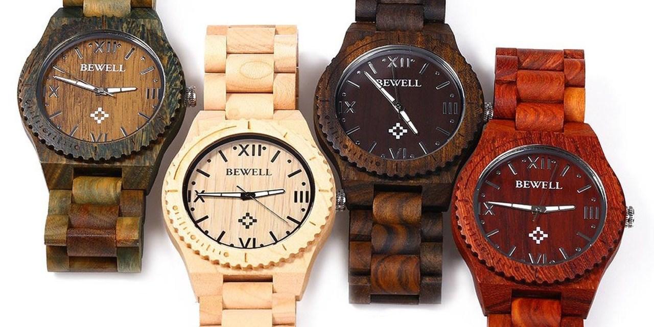 Bewell houten horloges