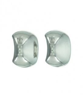 Zilverkleurige oorclip met bol element