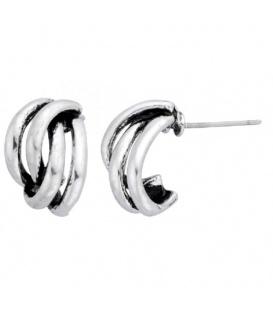 Zilverkleurige oorbellen