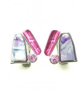 Roze driehoekige oorclips