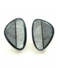 Mooie zwart met zilverkleurige parelmoer oorclips