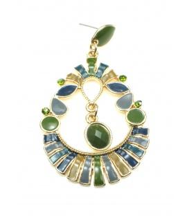 Mooie grote groene oorbellen. Lengte van de oorbel is 7,5 cm.