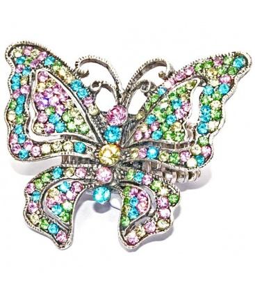 Gekleurde ring in de vorm van een vlinder