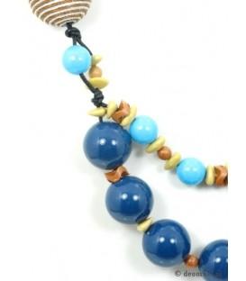 Mooie blauwe kralen halsketting