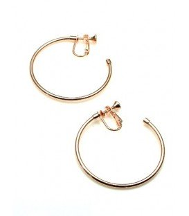 Rose gold oorringen, oorclips, creool (3,5 cm)
