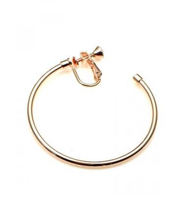 Rose gold oorringen, oorclips, creool (3,5 cm)