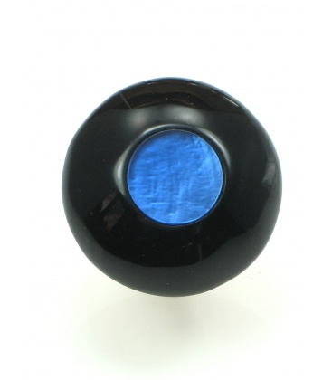 Mooie ronde ring met blauwe inleg