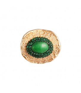 Deze statement ring met steen is een glinsterende musthave