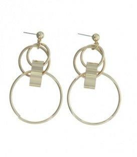 Goudkleurige oorbellen met 4 ringen