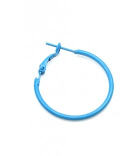Blauwe oorringen met klapsluiting (2,7 cm)