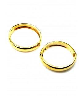 Mooie grote ronde goudkleurige oorclips (4,5 cm)