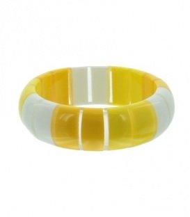 Geel gestreepte armbanden