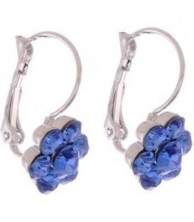 Oorbellen met blauwe Swarovski strass steentjes