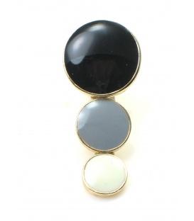 Mooie zwart met grijs en witte oorclips