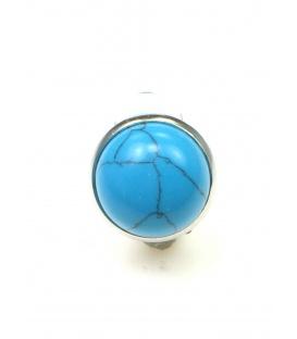 Oorclips met turquoise blauwe inleg