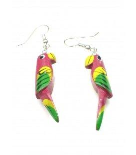 Vrolijk gekleurde papegaai oorbellen