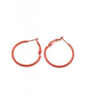 Donker oranje oorringen met klapsluiting (2,7 cm)