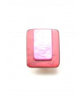 Rood met roze oorclips van Culture Mix