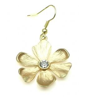 Goudkleurige bloemvormige oorbellen