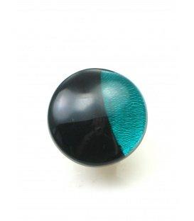 Culture Mix oorclips met tuquoise en zwarte invulling