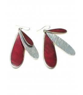 Culture Mix lange rode oorbellen