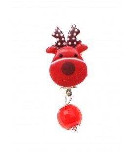 Vrolijk gekleurde kerstoorbellen oorclips