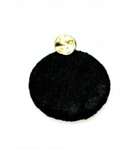 Zwarte ronde oorbellen met glinstering
