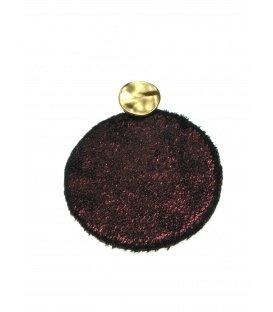 Donkerrode ronde oorbellen met glinstering
