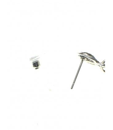 Langwerpige oorbellen met strengen en kleine kraaltjes