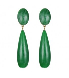 Lange groene oorclips