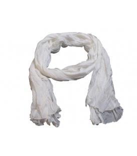 Ivoor kleurige dunne langwerpige sjaal