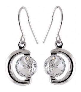 Swarovski heldere ronde strassteen oorbellen