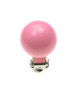 Roze parel oorclips (1,4 cm)