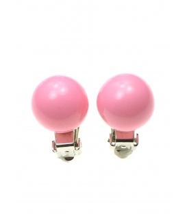 Roze parel clipoorbellen (1,4 cm)