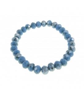 Blauwe armbanden van glaskralen