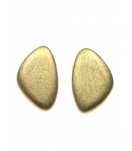 Oorclip oorbellen van Culture Mix in een geborstelde goudkleur