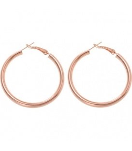 Metal Hook Earrings in 45mm