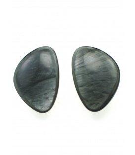 Culture Mix grijze oorclips met parelmoer inleg