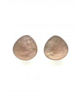 Mooie roze parelmoer oorclips van Culture mix