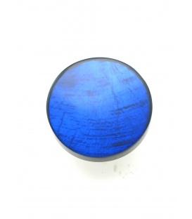 Oorclips met blauwe kleur en parelmoer