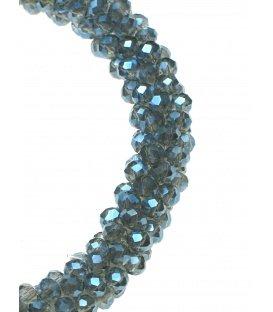 Blauwe armband met facet geslepen kraaltjes