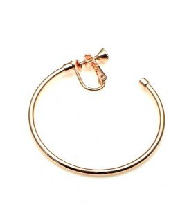 Rose gold oorringen, oorclips, creool (4,5 cm)