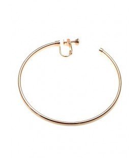 Rose gold oorringen, oorclips, creool (7 cm)