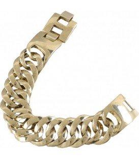 Goudkleurige metalen schakelarmband