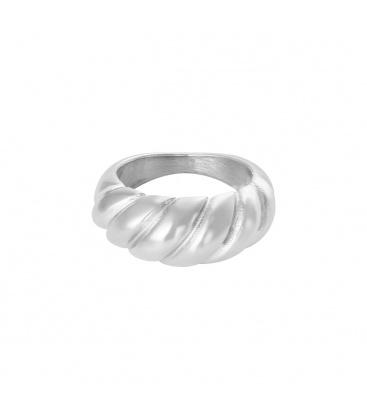 Mooie zilverkleurige ring
