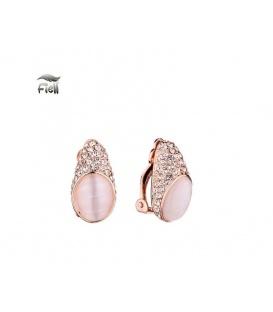 Roségold kleur oorclips met Zirconia strass steentjes