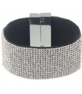 Armband met heldere strass steentjes