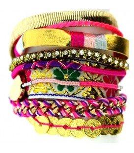 Hipanema Style multi streng armband met magneetsluiting