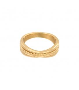 Goudkleurige ring met verdikking (16)
