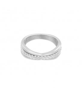 Zilverkleurige ring met verdikking (16)
